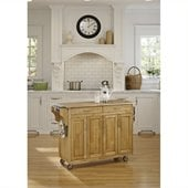 Home Styles Create-a-Cart 49 Inch Wood Top Kitchen Cart in Natural