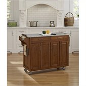 Home Styles Create-a-Cart 49 Inch Salt & Pepper Granite Top Kitchen Cart in Cottage Oak