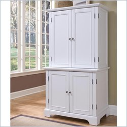 Home Styles Naples White Computer Armoire