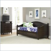 Home Styles Bermuda Wood Daybed and TV Media Chest Set in Espresso