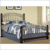Home Styles Bordeaux Bed in Espresso and Antique Pewter