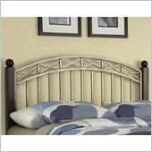 Home Styles Bordeaux Headboard in Espresso and Antique Pewter