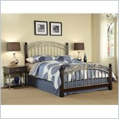 Home Styles Bordeaux Bed and Two Night Stands Set