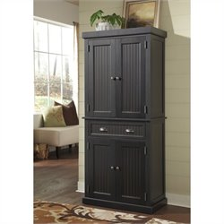 Home Styles Nantucket Pantry in Distressed Black Finish