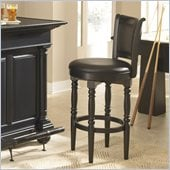 Home Styles St. Croix 30 Inch Swivel Bar Stool in Black Finish