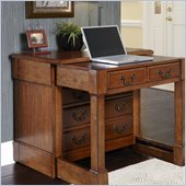 Home Styles Aspen Expanding Desk in Rustic Cherry Finish