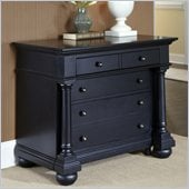 Home Styles St. Croix Expanding Desk in Black Finish