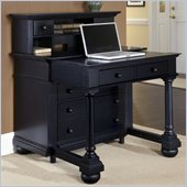 Home Styles St. Croix Expanding Desk with Hutch in Black Finish