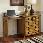 Home Styles Arts & Crafts Expand-a-Desk in Cottage Oak Finish