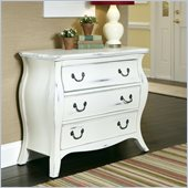 Home Styles The Regency Bombe Chest in White Finish