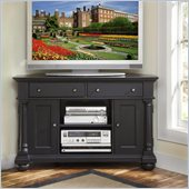 Home Styles St. Croix Corner TV Stand in Black Finish