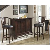 Home Styles Rio Vista 3PC Bar Set -Bar and Two Stools in Espresso