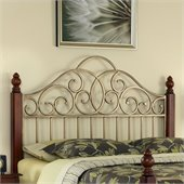 Home Styles St. Ives Headboard Cinnamon Cherry and Aged Gold Metal