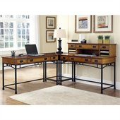 Home Styles Modern Craftsman Corner L Desk 