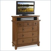 Home Styles Arts and Crafts TV Media Chest Cottage in Oak Finish