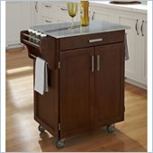 Home Styles Cuisine Cart in Cherry Finish with Marble Top