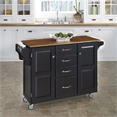 Home Styles Create-a-Cart in Black Finish with Oak Top