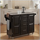 Home Styles Create-a-Cart in Black Finish with Marble Top