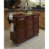 Home Styles Create-a-Cart in Cherry Finish with Oak Top