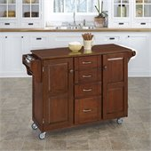 Home Styles Create-a-Cart in Cherry Finish with Cherry Top