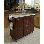 Home Styles Create-a-Cart in Cherry Finish with Marble Top