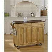 Home Styles Create-a-Cart in Natural Finish with Cherry Top