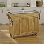 Home Styles Create-a-Cart in Natural Finish with Marble Top