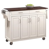 Home Styles Create-a-Cart in White Finish with Cherry Top
