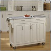 Home Styles Create-a-Cart in White Finish with Marble Top
