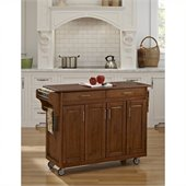 Home Styles Create-a-Cart in Warm Oak Finish with Oak Top