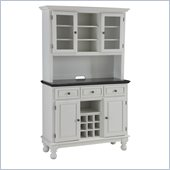 Home Styles Premium Buffet with Granite Top and Hutch