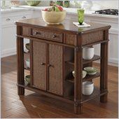 Home Styles Marco Kitchen Island Palm in Mahogany Finish