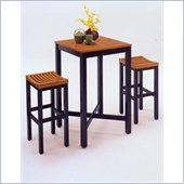 Home Styles Bar Table in Black and Oak Finish