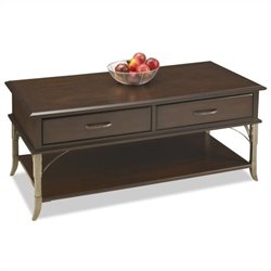 Home Styles Bordeaux Cocktail Table in Espresso Finish