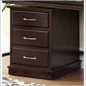 Home Styles Bordeaux Mobile File Cart in Espresso