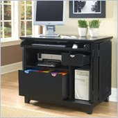 Home Styles Arts and Crafts Compact Desk in Black Finish