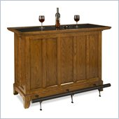 Home Styles Arts and Crafts Bar Distressed Oak Finish