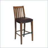 Home Styles Arts and Crafts Bar Stool  Distressed Oak Finish