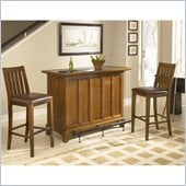 Home Styles Arts and Craft 3PC Bar Set in Oak Finish
