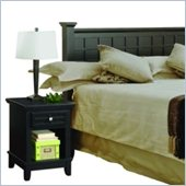 Home Styles Arts and Crafts Black Queen Headboard and Night Stand Set