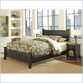 Home Styles Arts and Crafts  Black Queen Bed and Night Stand Set