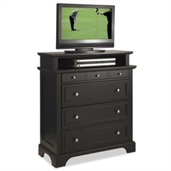 Home Styles Bedford TV Media Chest in Black