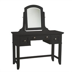 Home Styles Bedford Vanity Table in Black Finish