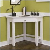 Home Styles Naples Corner Laptop Desk in White Finish