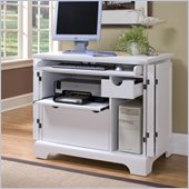 Home Styles Naples Compact Computer Desk in White Finish