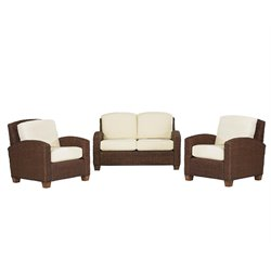 Home Styles Cabana Banana Cocoa Love Seat and Two Chairs