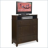Home Styles Paris TV Media Chest in Mahogany Finish