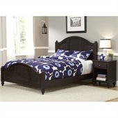 Home Styles Bermuda Queen Bed and Night Stand in Espresso