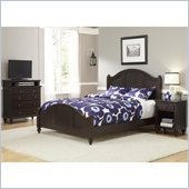 Home Styles Bermuda Queen Bed, Night Stand, and TV Chest in Espresso
