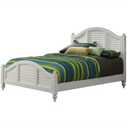 Home Styles Bermuda Bed in Brushed White Finish